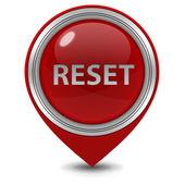 Reset pointer icon on white background — Stock Photo