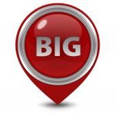 Big pointer icon on white background — Стоковое фото