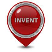 Invent pointer icon on white background — Stock Photo