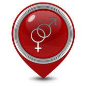 Couple pointer icon on white background — Stock Photo