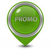 Promo pointer icon on white background — Stock Photo