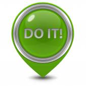 Do it pointer icon on white background — Stock Photo