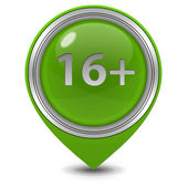 16 pointer icon on white background — Stock Photo