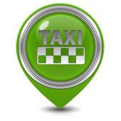Taxi pointer icon on white background — Stock Photo