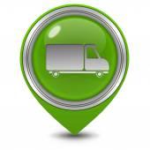 Truck pointer icon on white background — Stock Photo