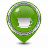 Coffee pointer icon on white background — Stock Photo