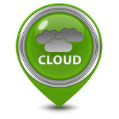 Cloud pointer icon on white background — ストック写真
