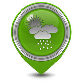 Rain pointer icon on white background — Stok fotoğraf