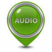 Audio pointer icon on white background — Stock Photo