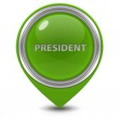 President pointer icon on white background — Stock Photo