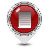 Ikona ukazatele poznámkového bloku na bílém pozadí — Stock fotografie