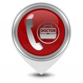 Emergency pointer icon on white background — Stock Photo
