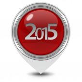 白色背景上 2015年指针图标 — 图库照片