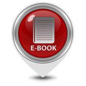 Ícone de ponteiro e-livro sobre fundo branco — Fotografia Stock