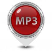 MP3 pointer icon on white background — Stock Photo