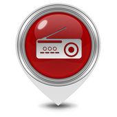 Radio pointer icon on white background — Stock Photo