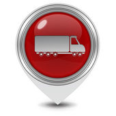Truck pointer icon on white background — Fotografia Stock