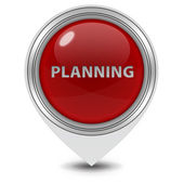 Planning pointer icon on white background — Stok fotoğraf