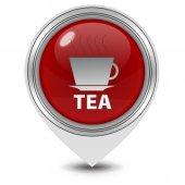 Tea pointer icon on white background — ストック写真