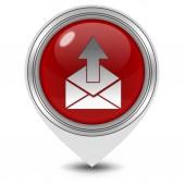 Send pointer icon on white background — Stock Photo