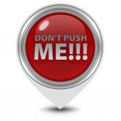 Do not push me pointer icon on white background — Stock Photo