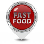 Fast food pointer icon on white background — Stock Photo