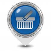Shopping cart pointer icon on white background — Stock Photo