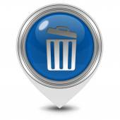 Trash can pointer icon on white background — Stock Photo