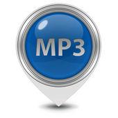 Beyaz arka planda MP3 işaretçi simgesi — Stok fotoğraf