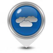 Cloud pointer icon on white background — Stock Photo