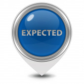 Expected pointer icon on white background — Stock Photo