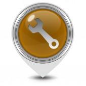 Tools pointer icon on white background — Stockfoto