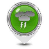 Rain pointer icon on white background — Foto Stock