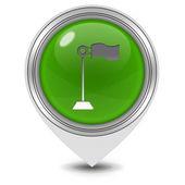 Flag pointer icon on white background — Stock Photo