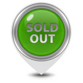 Sold out pointer icon on white background — Stock Photo