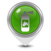 Fire extinguisher pointer icon on white background — Stock Photo