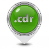 .cdr pointer icon on white background — Stock Photo