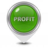 Profit pointer icon on white background — Foto de Stock