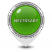 Necessary pointer icon on white background — Stock Photo