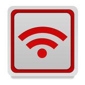 Signal square icon on white background — Stock Photo