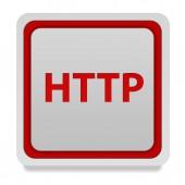 Http square icon on white background — Stock fotografie