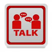 Talk square icon on white background — Stock Photo
