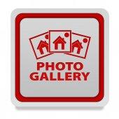 Photo galery square icon on white background — Stock Photo