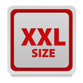 XXL size square icon on white background — Stock Photo