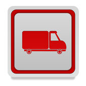 Truck square icon on white background — Stock Photo