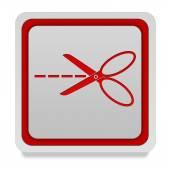 Scissors square icon on white background — Stock Photo