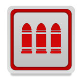Bullet square icon on white background — Stock Photo