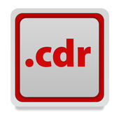 .cdr square icon on white background — ストック写真