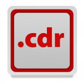 .cdr square icon on white background — Stock Photo