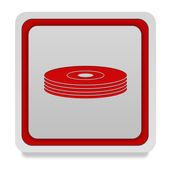 Cd square icon on white background — Stock Photo